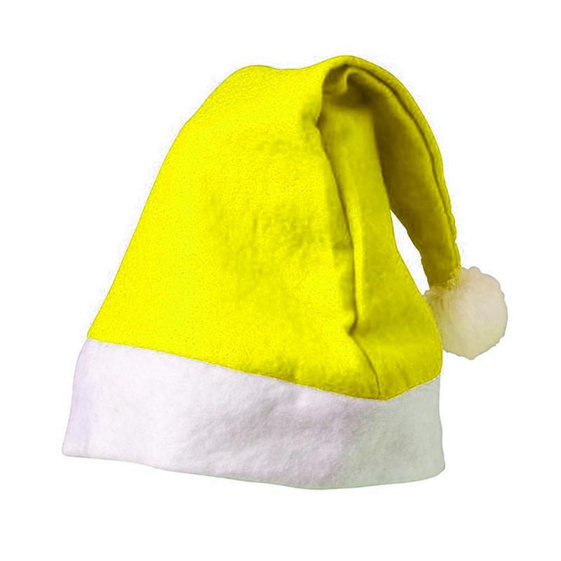 Gorro Navidad Amarillo - GorrosDePapaNoelBaratos.com 633d73bc9a5