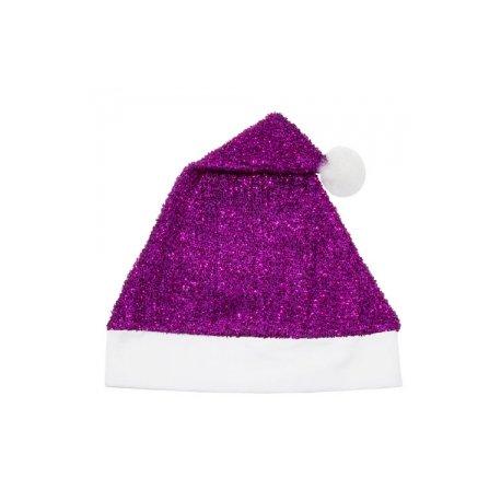 Gorro Navidad Lila Purpurina