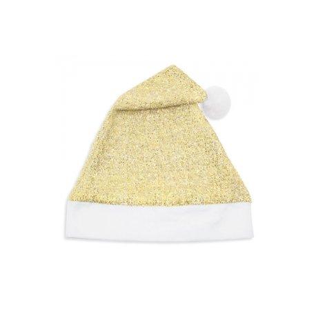 Gorro Navidad Dorado Purpurina